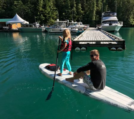 All inclusive Fishing Vacations paddleboarding